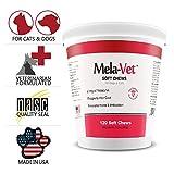 Healthy Pets Mela-Vet Melatonin Soft Chews for Dogs & Cats, 120 Count
