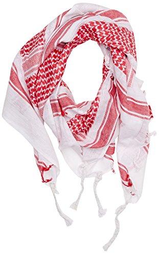 Mil-Tec Halstuch Shemagh 110X110 Cm Weiss/Rot