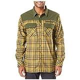 5.11 Tactical Men's Endeavor Flannel Shirt, RAPIDraw Placket, Abrasion Resistance, Kangaroo Plaid, S, Style 72468