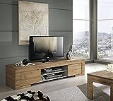 Lc Spa Milano, Mobile TV con 2 Ante e 1 ripiano in Legno, 190 x...