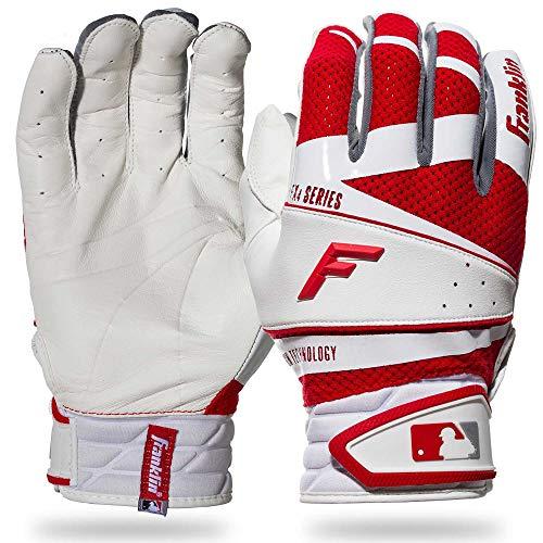 Franklin Sports Freeflex Pro Series - Guanti da battuta, taglia L, colore: Bianco/Rosso