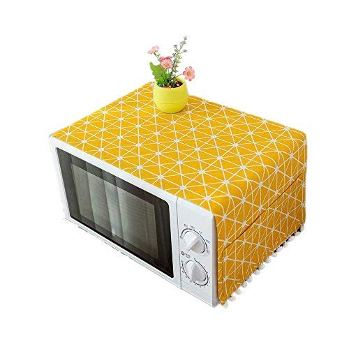Zollyss Microwave Oven Cover with Pocket (Yellow, 85 x 35 cm)
