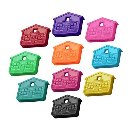 Lucky Line Schlüsselkappe in Hausform Pack of 10 verschiedene Farben