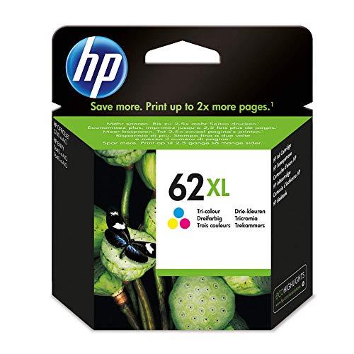 HP 62XL Farbe Original Druckerpatrone mit hoher Reichweite für HP OfficeJet 200, 5740; HP ENVY 5540, 5640, 7640