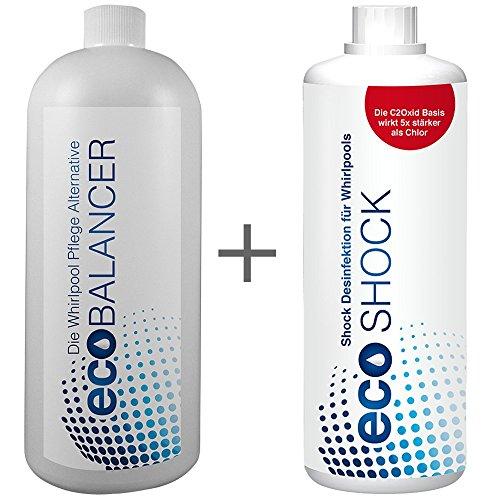 chlorfreie Wasserpflege, biologische Whirlpool Wasserpflege eco Balancer & Shock zum Setpreis