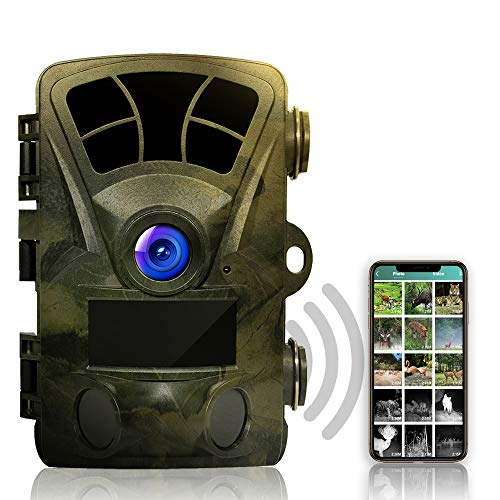 Rexing Woodlens H2-4K Wi-Fi Trail Camera, 20MP CMOS Motion Sensor with Ultra Night Vision Distance, 512GB, AV Output 12 Month Standby Surveillance Cam for Hunting Games and Wildlife Monitoring