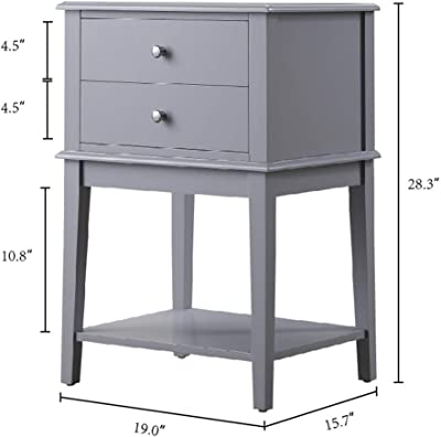 100 x 33 x 78 cm geschwungene Beine Home Source Telefontisch mit 2 Schubladen Wei/ß