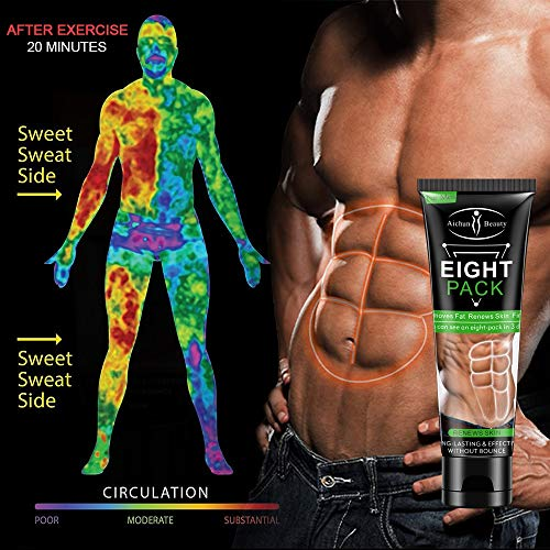 Huster Men Stronger Muscle Eight Pack Cream 80g Fitness Belly Burning Muscle Body Fat Burning Reducing Gel Abdomen Weight Loss Products
