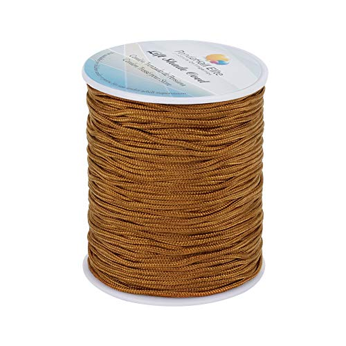 PandaHall Elite 100 yardas (91m) / rollo Cordón de cortina trenzada de hilo de nylon de 1,5 mm, cuerda de repuesto de persianas venecianas / enrollables, camello