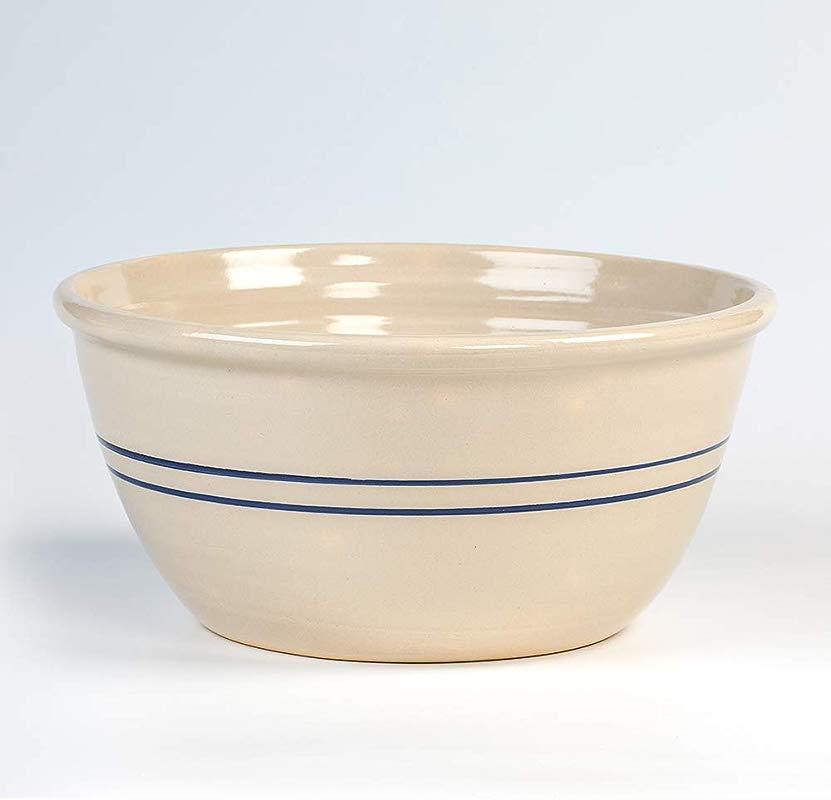 Heritage Blue Stripe Stoneware Mixing Bowl 16