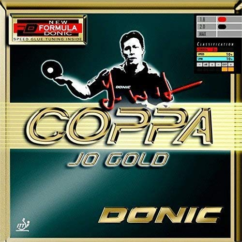 DONIC 1200050 Coppa Jo Gold Table Tennis Rubber (Red)