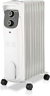 HAEGER Elan IX - Calefactor Radiador Eléctrico de Aceite con 2000W de Potencia, 3 velocidades - termostato Regulable, 5 Canales de Aceite, 3 configuraciones de Calor, Almacenamiento del Cable.