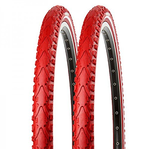2x Kenda Fahrrad Semislick Reifen Khan K-935 40-622 28x1.5 Draht rot reflex