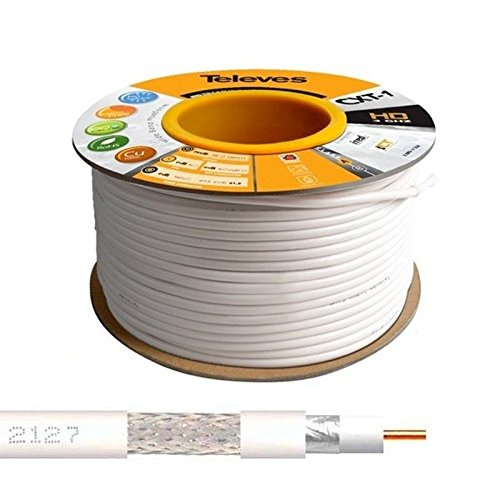 Televes - 100M Cable Coaxial Blanco 17 VATCS ClassA Televes 2127 CXT-1...