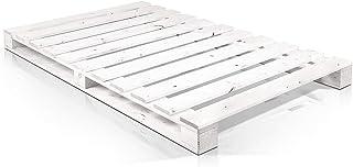 Somier & Cama de palets Individual de 90 cm- Somieres de pallets juveniles para colchones de 90 x 170 & 180 & 190 & 200 & ...