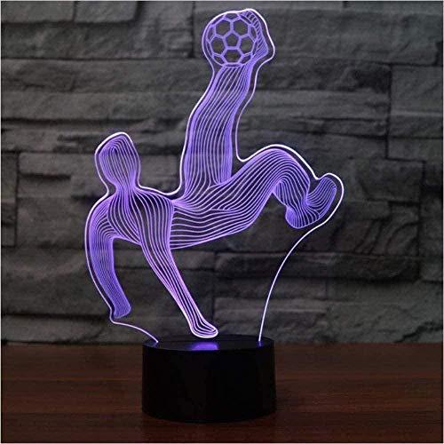 Baby Spielzeug 3D noche luz USB lámpara de mesa 16 colores cambiantes LED fútbol Kick modeleling hogar ambiente decoración luz