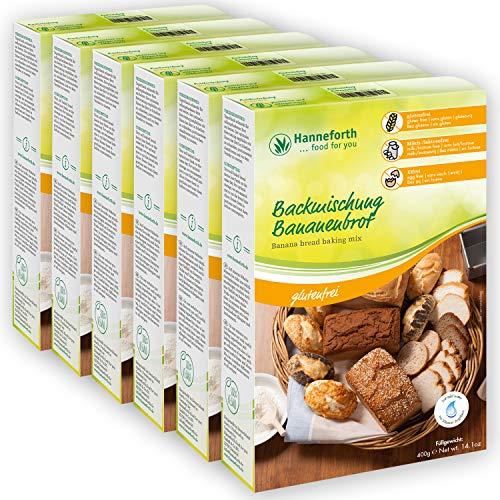 Glutenfreie Backmischung Bananenbrot | 6x400gr | Hanneforth