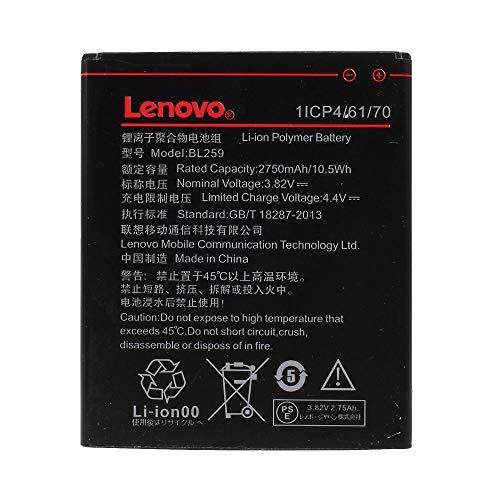 Batteria Originale Lenovo Modello BL259-2750 mAh con Carica Rapida 2.0 Per Lenovo K5 - Senza Scatola