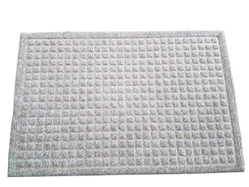 oKu-Tex Moby Design Fußmatte, Schmutzfangmatte,Relief, für außen und innen, rutschfest & robust, Gummi, Grau, 50 x 80 cm