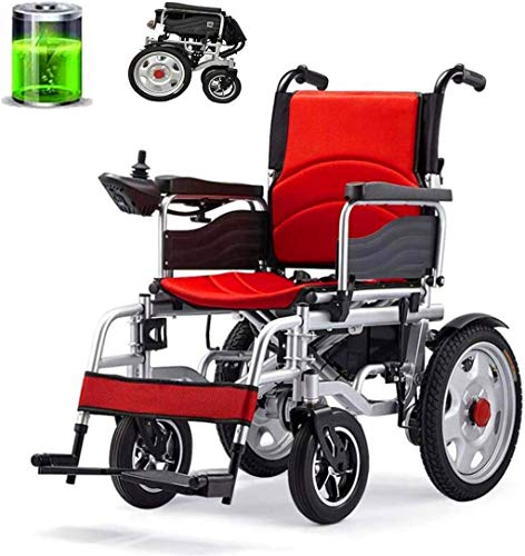 WXDP Eléctrico plegable autopropulsado, marco robusto, seguro y confiable, asiento cómodo y ajustable, pesado para ancianos/discapacitados cómodo y