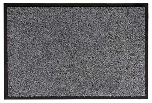 andiamo Eingangsbereich in/Outdoor – Rutschhemmend Waschbar Fußmatte, Polyamid, grau, 40 x 60 cm