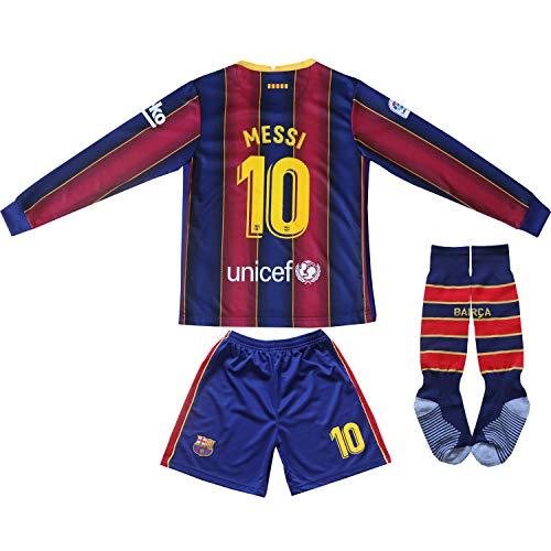 Da Games Youth Sportswear No 10 Kids Home Soccer Jersey/Shorts Football Socks Set (Navy, 10-11 YEARS OLD)