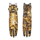 Toalla larga en forma de gato para el hogar, toalla de mano de secado rápido con hebilla para baño cocina parece un...