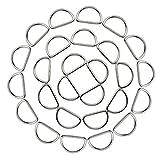 Hysagtek Heavy-Duty 50x 2,5cm metallo D anello fibbie per collari borse cinghie Yoga cinghie cinture cablaggio
