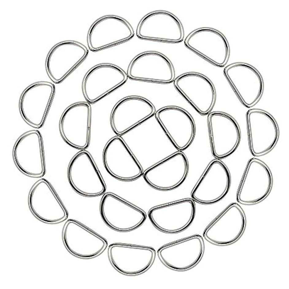 Hysagtek 50x 1 inch Metal D Ring Buckles for Dog Collars Handbags Webbing Yoga Straps Belts Harness