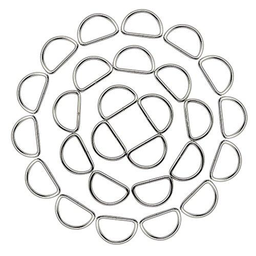 Hysagtek Hebillas de metal resistente de 127 x 2,54 cm para collares de perro, bolsos, correas de yoga, cinturones