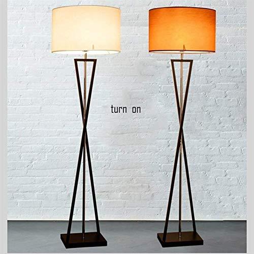 YUQIYU Luces Luces de suelo del piso for el bulbo sala de estar moderna minimalista Sofá Creative Hotel Room vertical incluido, el beige, 9W LED + teledirigido (Color : Brown Color)