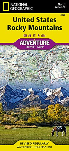 United States, Rocky Mountains (National Geographic Adventure Map, 3120)