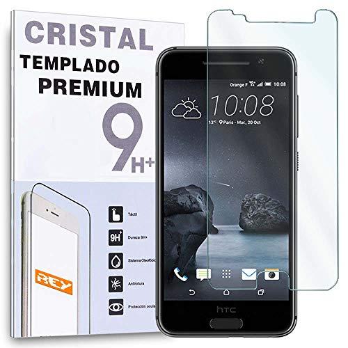 REY Protector de Pantalla para HTC One A9 Cristal Vidrio Templado Premium