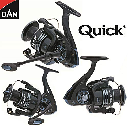 My-Fishing-World Dam Quick-Fighter Pro Metal Spinrolle/Stationärrolle/Angelrolle/inkl.schwarzes Schlüsselband gratis (320 FD / 2+1 BB)