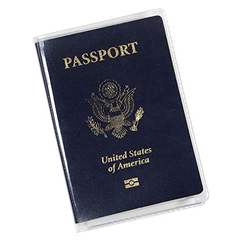 Clear Passport Cover Plastic Passport Protector Vinyl ID Card Protector Case Holder Travel Pack of 6