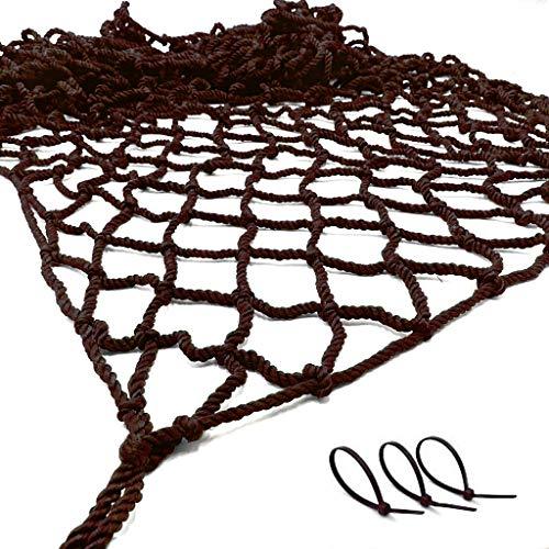 sac taske 改良版 転落防止 安全ネット 子供 階段 フェンス 手すり ネット 防獣 防鳥 網 (ブラウン 1m×2m)