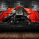 YUANJUN Gerahmte Toyota Supra 2JZ-GTE Motor Poster