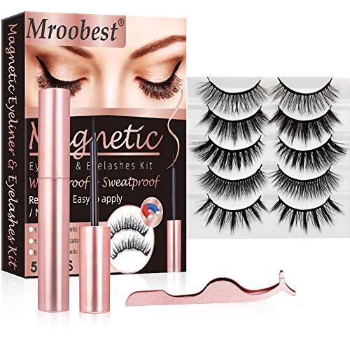Eyeliner Magnétique, Faux Cils Magnétique, Magnetic Eyeliner Kit de Cils Magnétiques,...