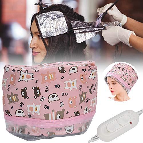 Capuchon de vapeur thermique pour soins capillaires, bonnet de spa pour cheveux, bonnet de chauffage électrique(EU)