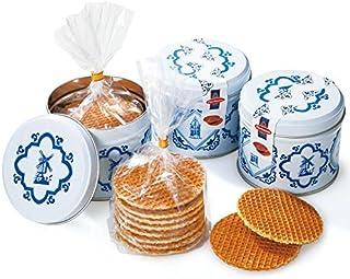 オランダ 土産 キャラメルワッフル デルフト缶 3缶 (海外旅行 オランダ お土産)