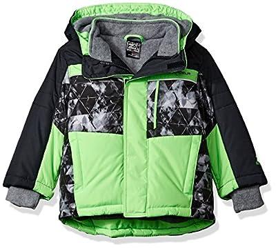 ZeroXposur Boys' Toddler Dino Heavyweight Jacket, Neon Lime, 2T