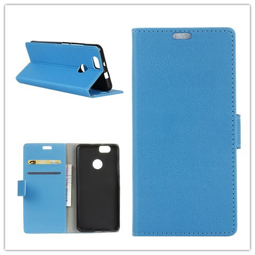 Funda® Flip Portefeuille Coque pour ASUS Zenfone Max Plus ZB570TL/Asus Zenfone Max Plus M1 (Bleu)