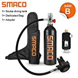 roadwi Smaco S400 Constant Pressure Breathing Scuba Diving Bottle with 15-20 Minutes Capability, Pressure & Corrosion Resistant Material Scuba Tank for Diving Learner and Lovers (S400 B)