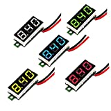 MCIGICM Voltage Tester, 2.5V-30V Mini Digital DC Voltmeter with 0.28 inch LED Display (5 Pcs)