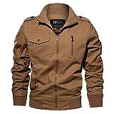 Homme Mode Printemps Automne Coton Militaire Veste Voler Bomber Blousons Outdoor Manteaux Multi-Poche Jackets Blousons