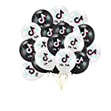 """➤【Package Includes】 -- Comes with 20pcs Tik Tok birthday balloons (10 black,10 white).You can organize a birthday party with the theme of tiktok, allowing your and your friends to enjoy a different visual feast. """" ➤【Premium Quality】 -- Tik Tok Balloo..."""