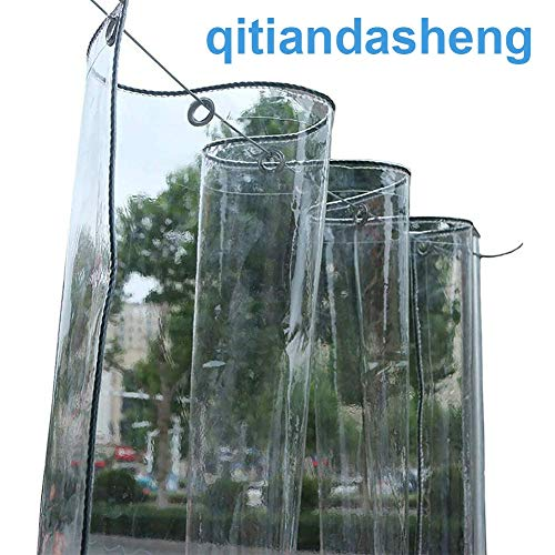 Bâches Bâche Transparente Imperméable En PVC Avec Oeillets, Bâche Transparente Résistante Aux Déchirures pour Jardinerie De Jardin Extérieur (350g / M², 550g / M²) (Color : 0.5mm, Size : 1.6×2m)