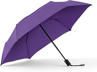 WindPro Flatwear Vented Auto Open/Close Purple Compact Umbrella: Hyacinth