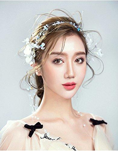 ZGP Couronne de Coiffure Couronne de Fleurs Bridal Hair Bands Garland Chapeaux Accessoires Plaque de Mariage Accessoires de Cheveux Style Coréen