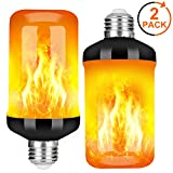 Y- STOP LED Flame Effect Fire Light Bulb - Upgraded 4 Modes Flickering Fire Christmas Decorations Lights - E26 Base Flame Bulb with Upside Down Effect(2 Pack)